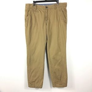 Eddie Bauer 100% cotton Flannel Lined Khakis sz 14